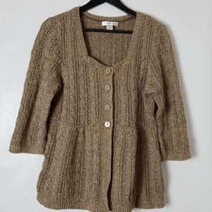 christopher & banks Large Brown Knit Sweater
